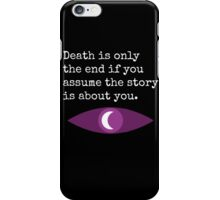 Welcome To Night Vale Death Design BLACK & WHITE iPhone Case/Skin