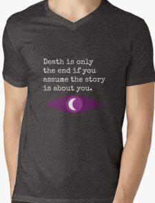 Welcome To Night Vale Death Design BLACK & WHITE Mens V-Neck T-Shirt