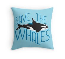 Cute Blue Whale Throw Pillow
