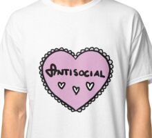 Love heart - Antisocial Classic T-Shirt