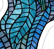 Blue Geometric Mosaic Sticker