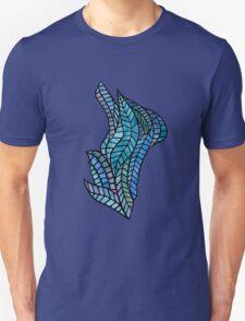Blue Geometric Mosaic T-Shirt