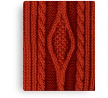laine rouge Canvas Print