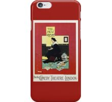The New Woman, vintage Comedy Theatre london advert iPhone Case/Skin