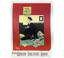 The New Woman, vintage Comedy Theatre london advert Poster