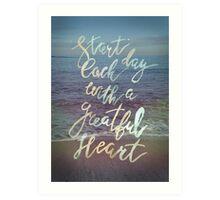 Inspirational lettering ocean theme Art Print