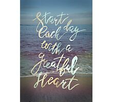 Inspirational lettering ocean theme Photographic Print