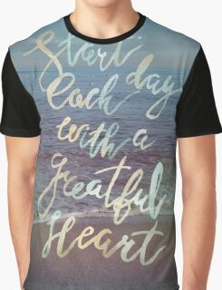 Inspirational lettering ocean theme Graphic T-Shirt