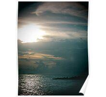 lomo sunset beach 1 Poster