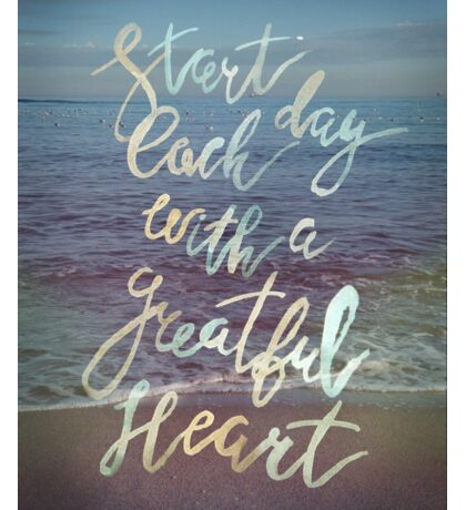 Inspirational lettering ocean theme Sticker