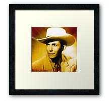Hank Williams Cool Colors Framed Print