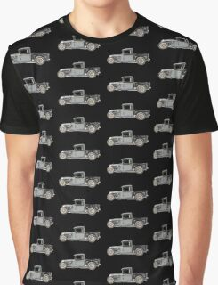 1932 Ford Custom Pickup Truck - RatRod Graphic T-Shirt