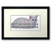 dumb boys Framed Print