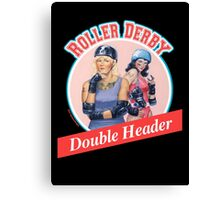 Roller Derby Double Header Canvas Print
