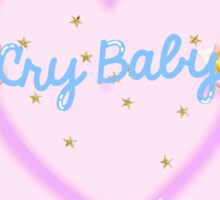 CRY BABY in pastels Sticker
