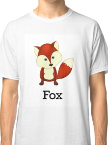 Cute Woodland Forest Red Fox Classic T-Shirt