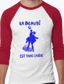La beauté est dans la rue-(Beauty is in the street) Men's Baseball ¾ T-Shirt