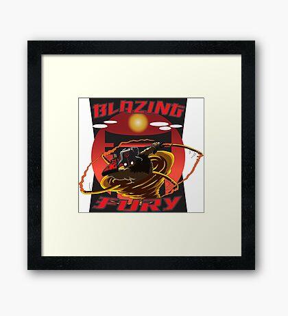 Blazing Fury Framed Print