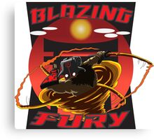 Blazing Fury Canvas Print
