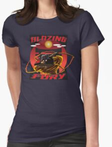 Blazing Fury Womens Fitted T-Shirt