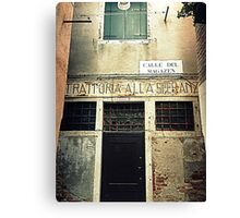 "Old "" Trattoria "" in Venice Canvas Print"