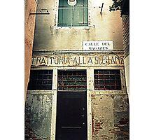 "Old "" Trattoria "" in Venice Photographic Print"