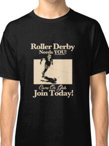 Roller Girl Recruitment Poster (Vintage Black) Classic T-Shirt