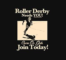 Roller Girl Recruitment Poster (Vintage Black) Womens Fitted T-Shirt