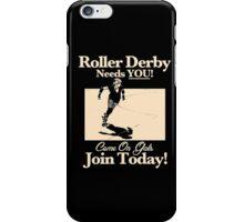Roller Girl Recruitment Poster (Vintage Black) iPhone Case/Skin