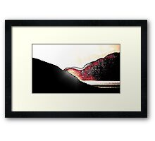 AA125 Abstract Landscape Framed Print