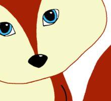 Cute Little Red Fox Sticker