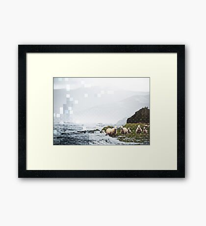 DRINKING WATER Framed Print