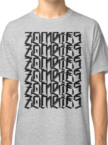 Zombies Zombies Zombies (White) Classic T-Shirt