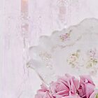 Candles, Crystal And Vintage Dish by Sandra Foster