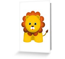 Cute Baby Lion Greeting Card