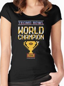 Tecmo Bowl World Champion 2016 Women's Fitted Scoop T-Shirt