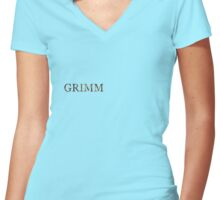 GRIMM - Red Riding Hood Women's Fitted V-Neck T-Shirt