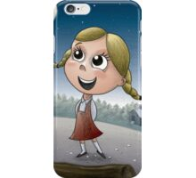 Young girl in forest iPhone Case/Skin