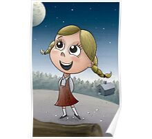 Young girl in forest Poster