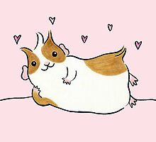Lovey Dovey Guinea-pig by zoel