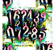Numbers! Photographic Print