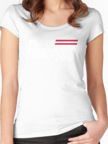 Frank Underwood for President 2016 Women's Fitted Scoop T-Shirt