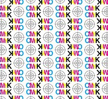 CMYK Registration Mod Mark Scarf by typehype