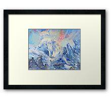skoll - watercolor Framed Print