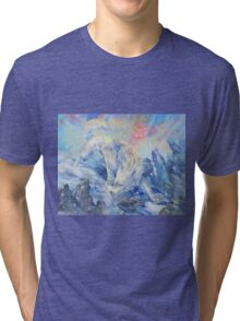 skoll - watercolor Tri-blend T-Shirt
