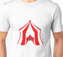 Circus Tent in Red and White Unisex T-Shirt