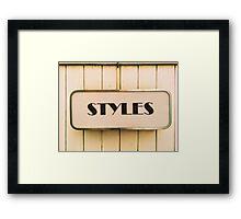 STYLES Framed Print