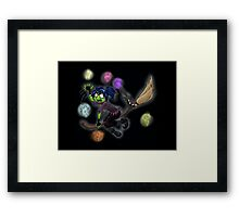 Witch vs. Fairies Framed Print
