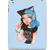 Black & Blue Kitty iPad Case/Skin
