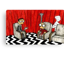 Twin Peaks Black Lodge  Canvas Print